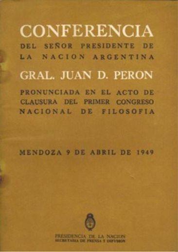 Resultado de imagen para 1º congreso nacional de filosofia mendoza 1949