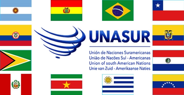 Resultado de imagen para bandera Unasur