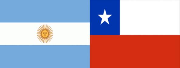 Resultado de imagen para argentina y chile banderas